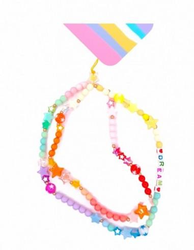 Collar de cuentas para Móvil Multicolor